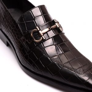Leather Croco Printed Shoes